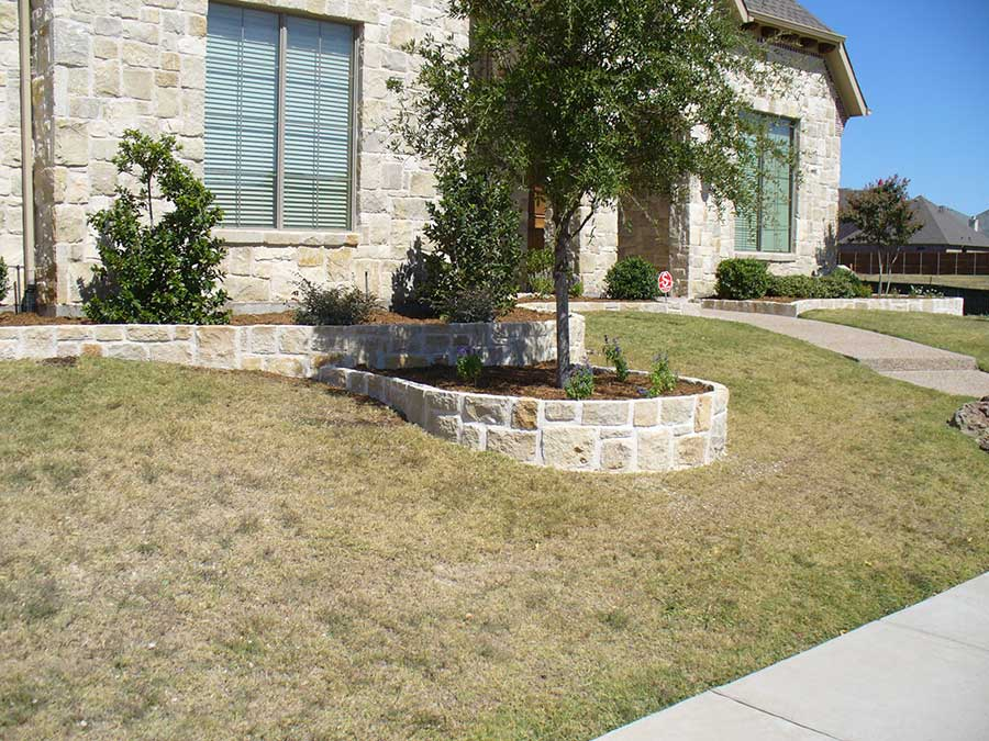 Empire Landscaping Austin Stone Matching House