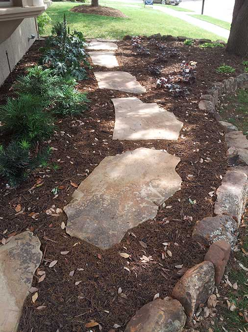 Empire Landscaping Natural Rock Walkway