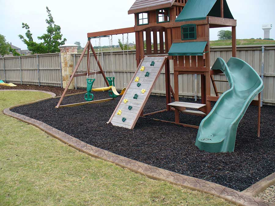 Empire Landscaping Play Area Curbing