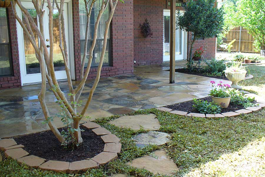 Empire Landscaping Flagstone Patio Sealed