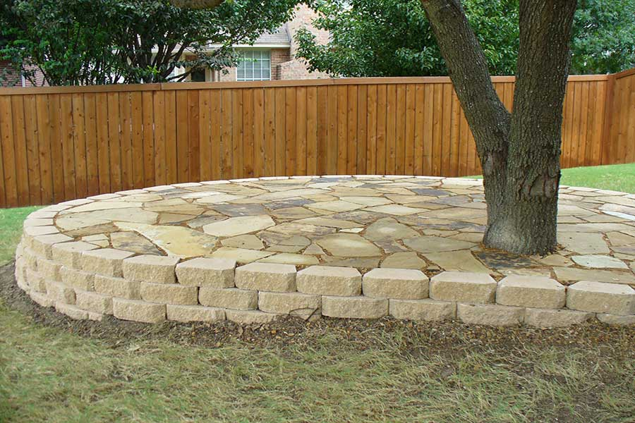 Empire Landscaping Flagstone Sitting Area