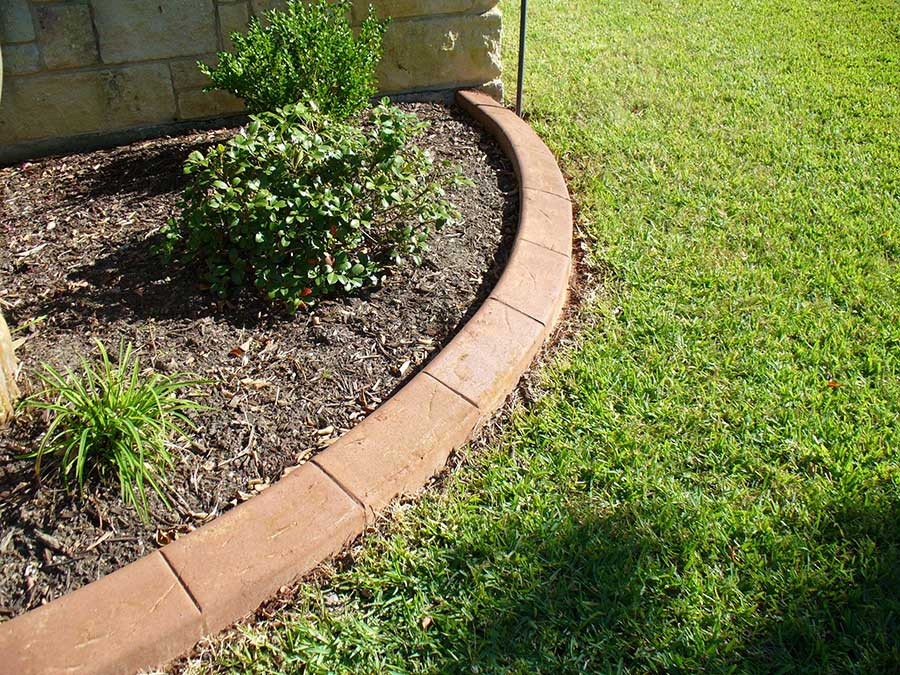 Curved Curbing For Planting Area