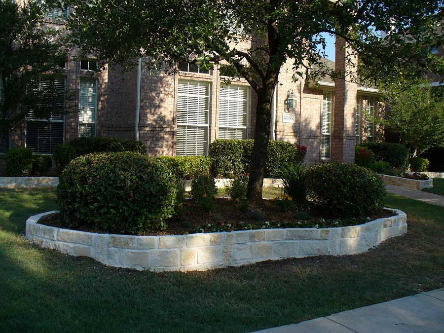 Empire Landscaping Set Stone Border Front Yard