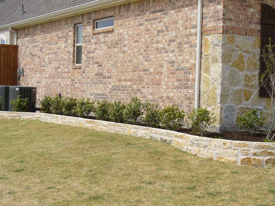 Empire Landscaping Set Stone Border Curved Planter