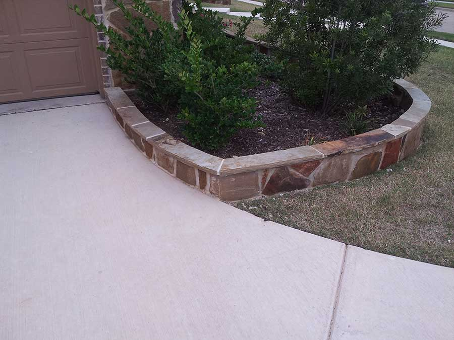 Empire Landscaping Set Stone Border Flagstone Cap