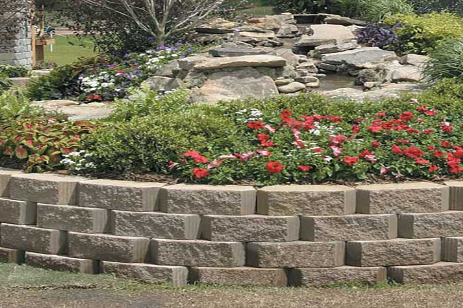 Empire Landscaping Pavestone Planting Bed