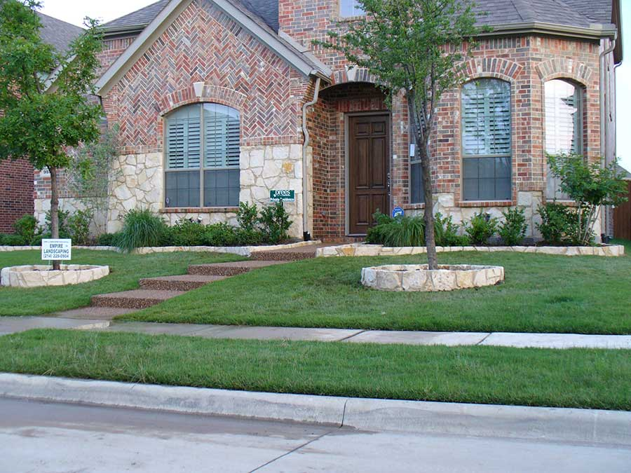 Empire Landscaping Stone Rip Rap Matching House