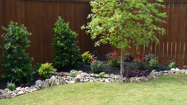 Landscape With River Rock Empire Landscaping